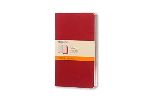 Moleskine Cahier Soft Cover Journal, Set of 3, Ruled, Large (5