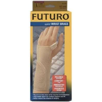 (Futuro Splint Wrist Brace, Left Hand, Large, (7.5 - 9 in), 1brace)