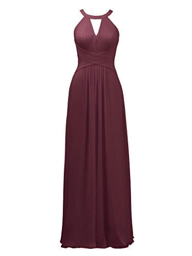 for Burgundy Evening Keyhole Gown Wedding Alicepub Formal Prom Long Maxi Bridesmaid Dress 8HfqUw