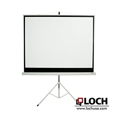 "Matte White 100"" diagonal Portable Projection Screen"