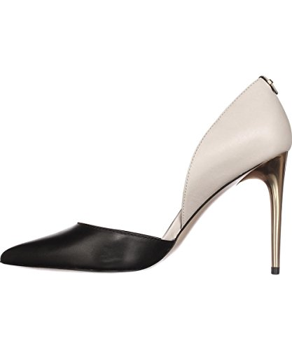 Calvin Klein Women's Sebrina Dress Pump, Black/Soft White, 9 M US by Calvin Klein
