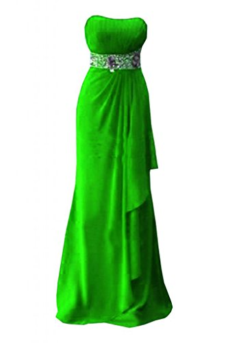 sera spalline Verde senza abito Pageant Sunvary sera abiti d'onore da abito da damigella elegante tqpHnU5