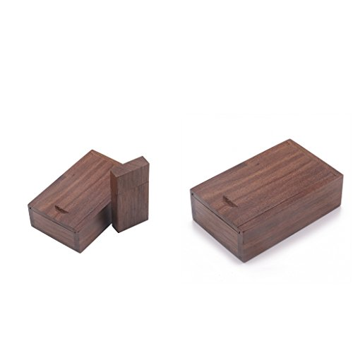 Baoblaze Pack of 2(8G+4G) Maple Wood Cuboid USB Flash Pen Drive Memory Stick With Box