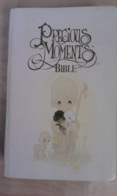 Precious Moments Bible/Catholic Edition/Today's English Version/1270W/White-Leather-Flex
