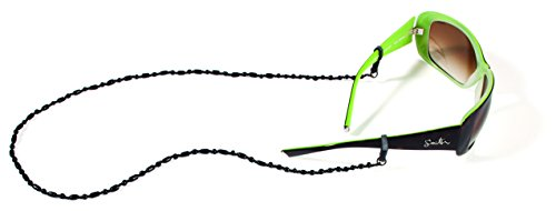 Croakies Czech Eyewear Retainer, Spec Ends, Black