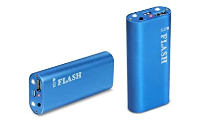 iFlash Aluminum Housing Slim 5000mAh Backup External Battery Pack and Charger for iPhone 5 / 4 / 4S / 3GS, iPod, iPod Touch, Nano; Android Smartphones (HTC Sensation / Samsung Galaxy S, S2, S3 / Motorola Droid / LG Optimus), MP3 / MP4 / MP5 Players and M