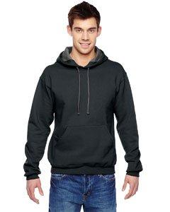 Fruit of the Loom Men's Hooded Sweatshirt, Black, Small