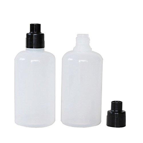 50ml Luer Lock Dispensing Bottle Squeezable Transfer Bottle with Luer Lock Cap 10 Units