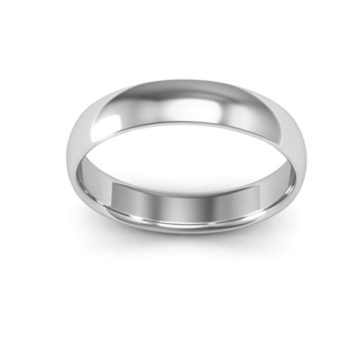 18K White Gold men's and women's plain wedding bands 4mm comfort-fit light, 10 by i Wedding Band (Image #3)