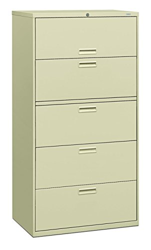 HON 585LL 500 Series 36 by 67 by 19-1/4-Inch 5-Drawer Lateral File, Putty