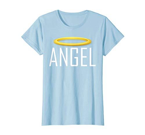 (Womens Angel Devil Best Friend T Shirt Tshirt T-Shirt Tee Shirt Fun XL Baby Blue)