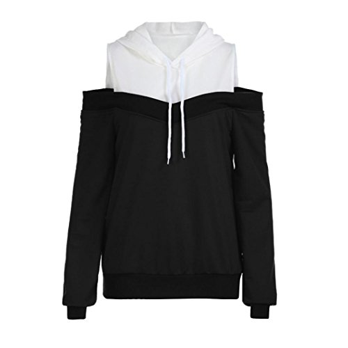 UONQD Women Sweatshirt Off Shoulder Hoodie Blouse