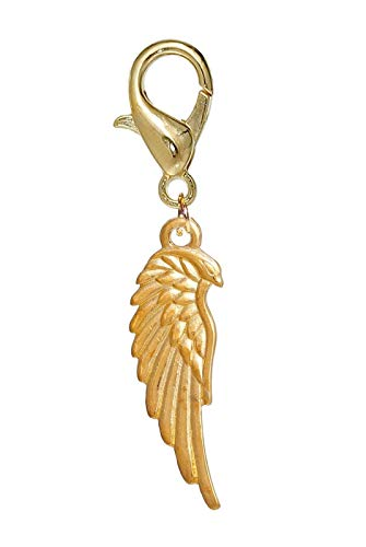 (Eagle Wing Remembrance Loss Bird Gold Lobster Claw Dangle Charm for Bracelets Crafting Key Chain Bracelet Necklace Jewelry Accessories Pendants)