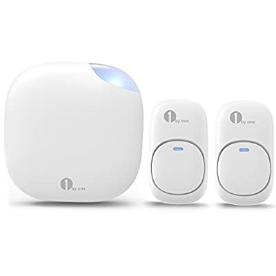 1byone Easy Chime Plug-in Wireless Doorbell Operating at 500 feet
