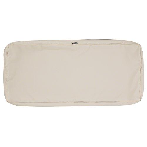 Classic Accessories Montlake Patio Bench Seat Cushion Slip Cover, Antique Beige, 42x18x3