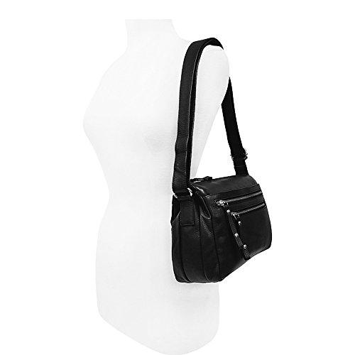 Great American Leatherworks Catania Adjustable Shoulder Bag (Black)
