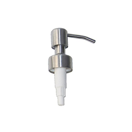 Coohole Silver 304 Stainless Steel Soap Pump Liquid Lotion Dispenser Replacement Jar Tube  D