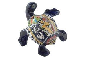 Talavera Small Wall Turtle - 6.25''W x 6.25''L (Blue Body) by Tierra Fina