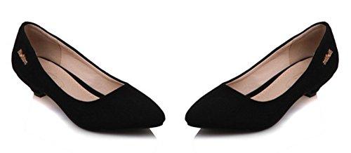 Pointue Classique Escarpins Talon Conique Noir Aisun Femme qI75ww
