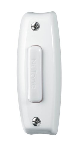 NuTone PB7LWH Wired One-Lighted Door Chime Push Button, White