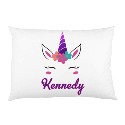 FavorPlus Pillowcase Unicorn Girl Name/Text Personalized Custom Funny Queen Size Pillowslip Sofa Couch Cover DIY Pillow Sham 20X30 Inches (Custom Pillow Shams)