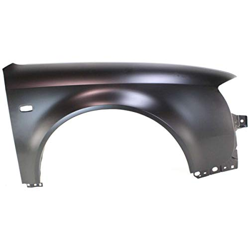 Fender For 2002-2004 Audi A6 Front RH Primed Steel w/Square Signal Light Hole ()