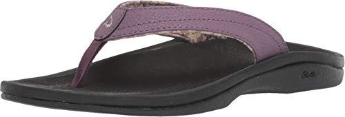 OLUKAI Women's Ohana Sandal, Mauve/Black, 6 M US ()