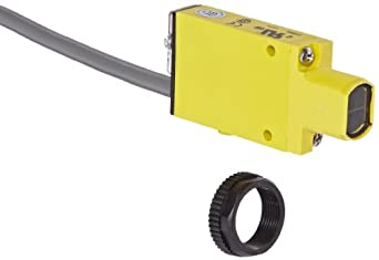 Banner SM2A312D Mini Beam AC Photoelectric Sensor, Infrared LED, Diffuse Mode, 380mm Range