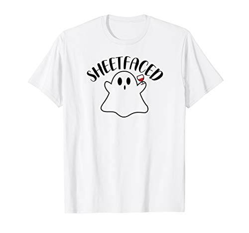 Wine Wino Sheetfaced Ghost Shitfaced Halloween Costume Party
