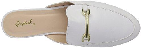 Qupid Damen Regent-02 Loafer Flat Weiß
