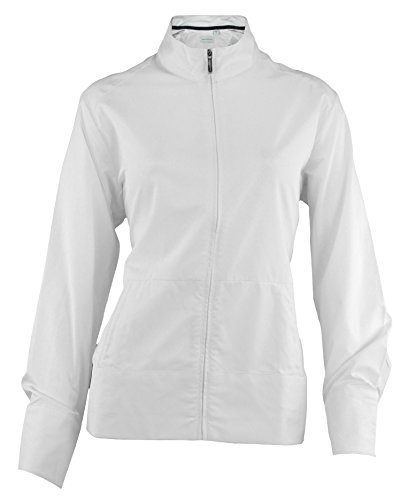 - Ashworth Women's Performance Solid Stretch Wind Jacket (Medium, White)