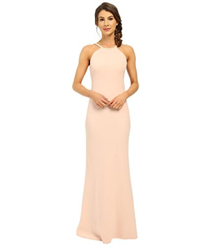 Dress Less Ladies (Calvin Klein Women's Halter Neck Back Less Gown CD6B1850 Petal)