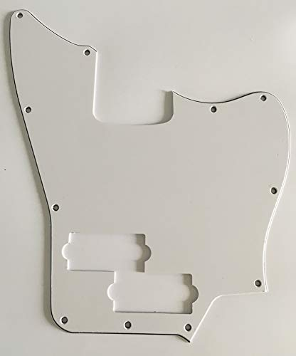 - Electric Guitar Pickguard for Squier Jaguar Bass Style (3 Ply White)