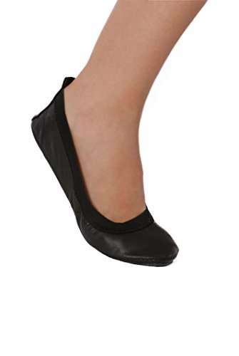 Fold Up Ballet Flats - Foldable Shoes - Purse Pack opens to reveal a handy Tote Bag. Foldable Ballet Flat Shoes In Black and Silver.Portable Travel Foldable Ballet Flats! (X-Large (Size 11-12), Black)