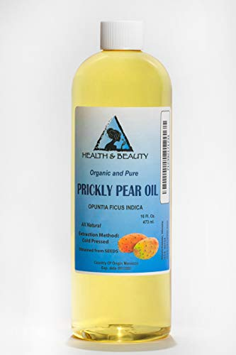 Prickly Pear Seed Oil Organic Cold Pressed Premium Natural 100% Pure 16 oz