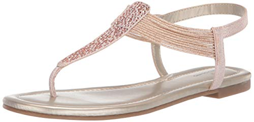 Bandolino Women's KAYTE Flat Sandal, Rose, 8.5 Medium US