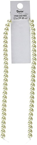 (Darice SA3 Strand Glass Pearl Cream 6Mm 12In)