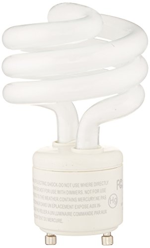 75W Equivalent, Bright White (3500K) General Purpose Spiral Light Bulb, GU24 Base (Bright White Spiral Cfl Bulb)