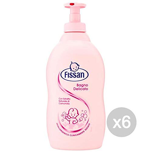 Fissan Set of 6 Delicate Baby Bath 400 ml Body Care and Cleaning, Multicoloured, One Size by Fissan