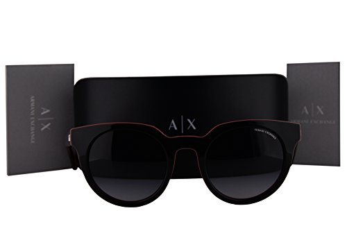 Armani Exchange AX4062S Sunglasses Dubarry Top Black w/Gray Gradient Lens 82148G AX 4062S