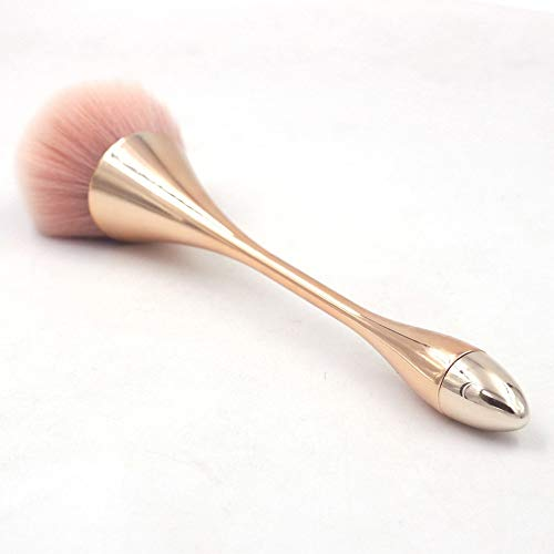 LiPing Rose Gold Powder Brush Premium Foundation Brush Tool Eyeliner Lip Cosmetic Brush Eyeshadow Brush (7.8in) (Harry Potter Wand Makeup Brushes For Sale)