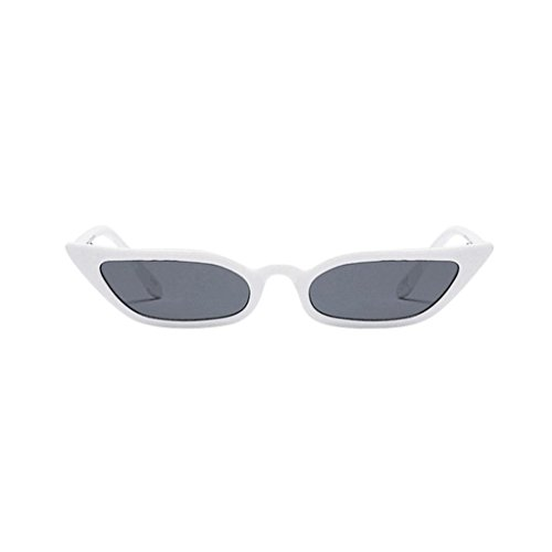 Blanc UV400 Vintage Fashion Reflet De URSING Glasses Cat Femmes lunettes Eye De soleil Lunettes Anti Sunglasses Ladies Soleil de petit Fashion rétro Eyewear Soleil cadre Lunettes Lunettes De wvvpqA5