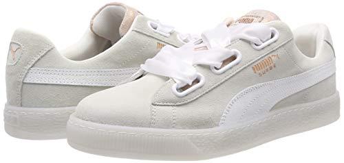 puma Da Heart Bianco Puma White Basse puma Ginnastica Scarpe Suede 01 Wn's White Artica Donna X7TUq7