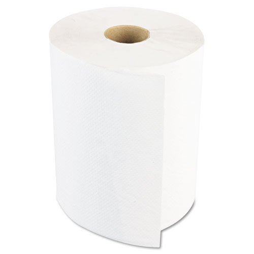 Boardwalk : Hardwound Paper Towels, 8''x800`, One-Ply, 6 Rolls/Case, Bleached White -:- Sold as 2 Packs of - 6 - / - Total of 12 Each by Boardwalk