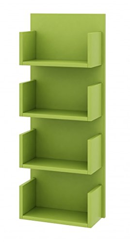 Josie 4, Wandregal, CD-Regal, Möbelfarbe grün