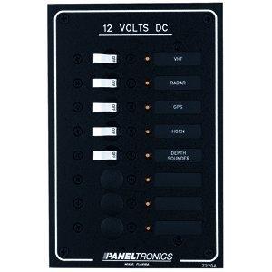 (PANELTRONICS STANDARD DC 8 POSITION BREAKER PANEL W/LED'S