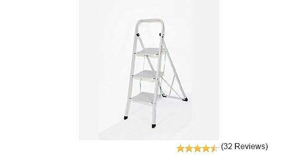Escalera de acero de alta vida plegable de 2 3 4 peldaños, antideslizante, escalón de seguridad para el hogar y la cocina: Amazon.es: Bricolaje y herramientas