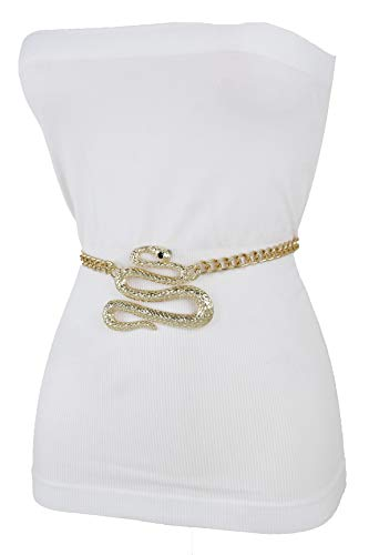 Buy metal snake belts for women