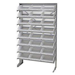 - Quantum 24 QSB109CL Clear-View Bin Storage Sloped Shelving Single-Sided Pick Rack System 12