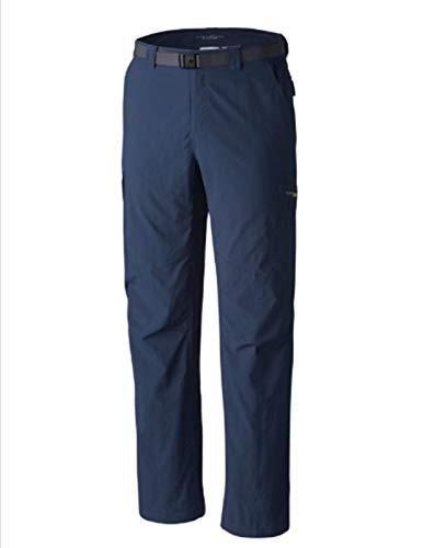 Columbia Mens PFG Omni-Shade UPF 50 Palm Peak Belted Nylon Hiking Fishing Pants Navy Blue (36W x 30L)